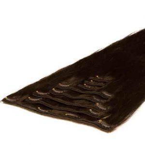 Wlosy Clip in 50cm 70g 1C Brazowe Mochaccino-0