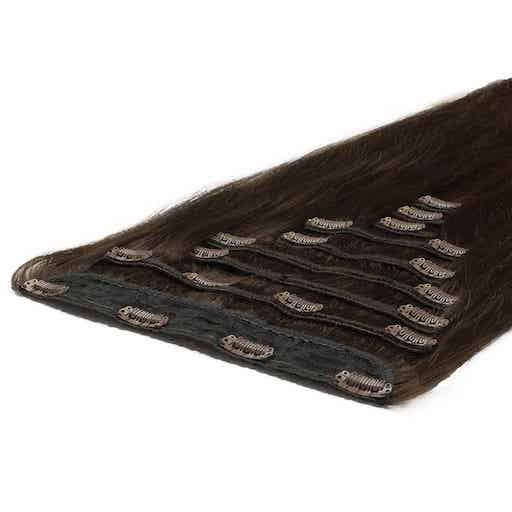 Wlosy Clip in Deluxe 50cm 200g Ciemny Braz 02-2972