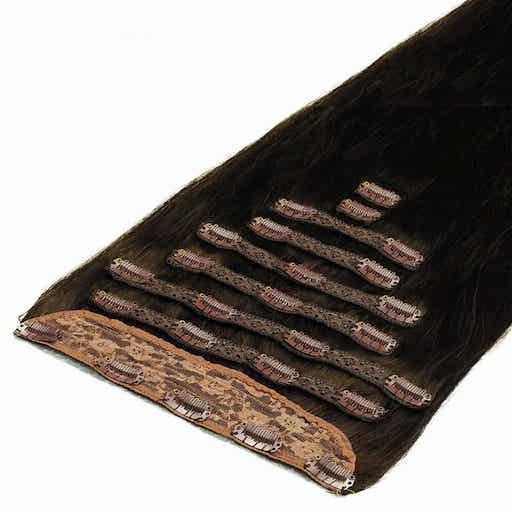 Wlosy Clip in Deluxe 50cm 200g Brazowe Mochaccino 1C-0