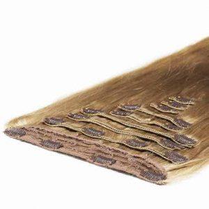 Wlosy Clip in Deluxe 50cm 200g Popielaty Blond 16-0