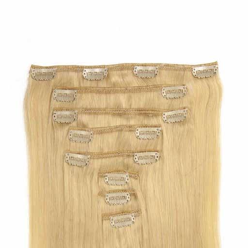 Wlosy Clip in 60cm 160g Platynowy Blond 60-0