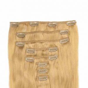 Wlosy Clip in 60cm 160g Zloty Blond 22-0