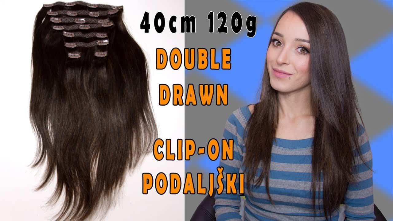 Premium Włosy Clip in premium 40cm 120g