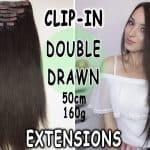 Premium Włosy Clip in premium 50cm 160g