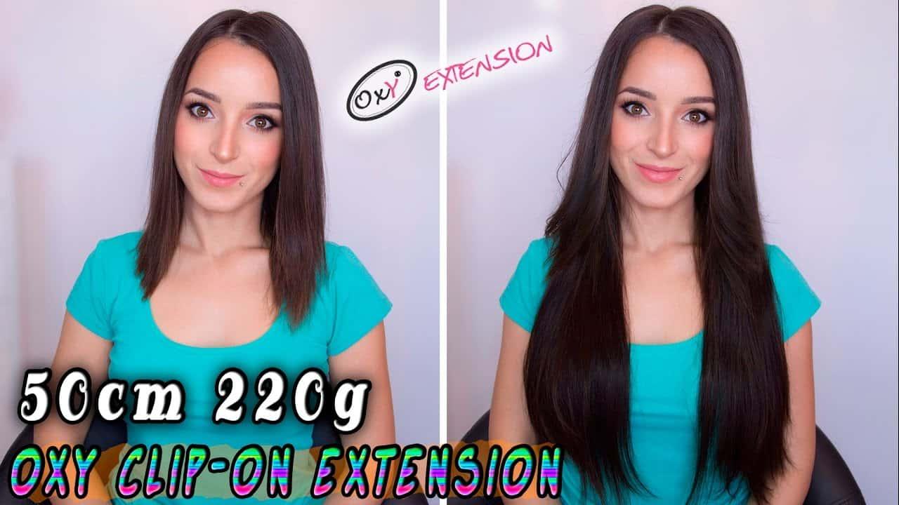 Premium Włosy Clip in premium 50cm 220g