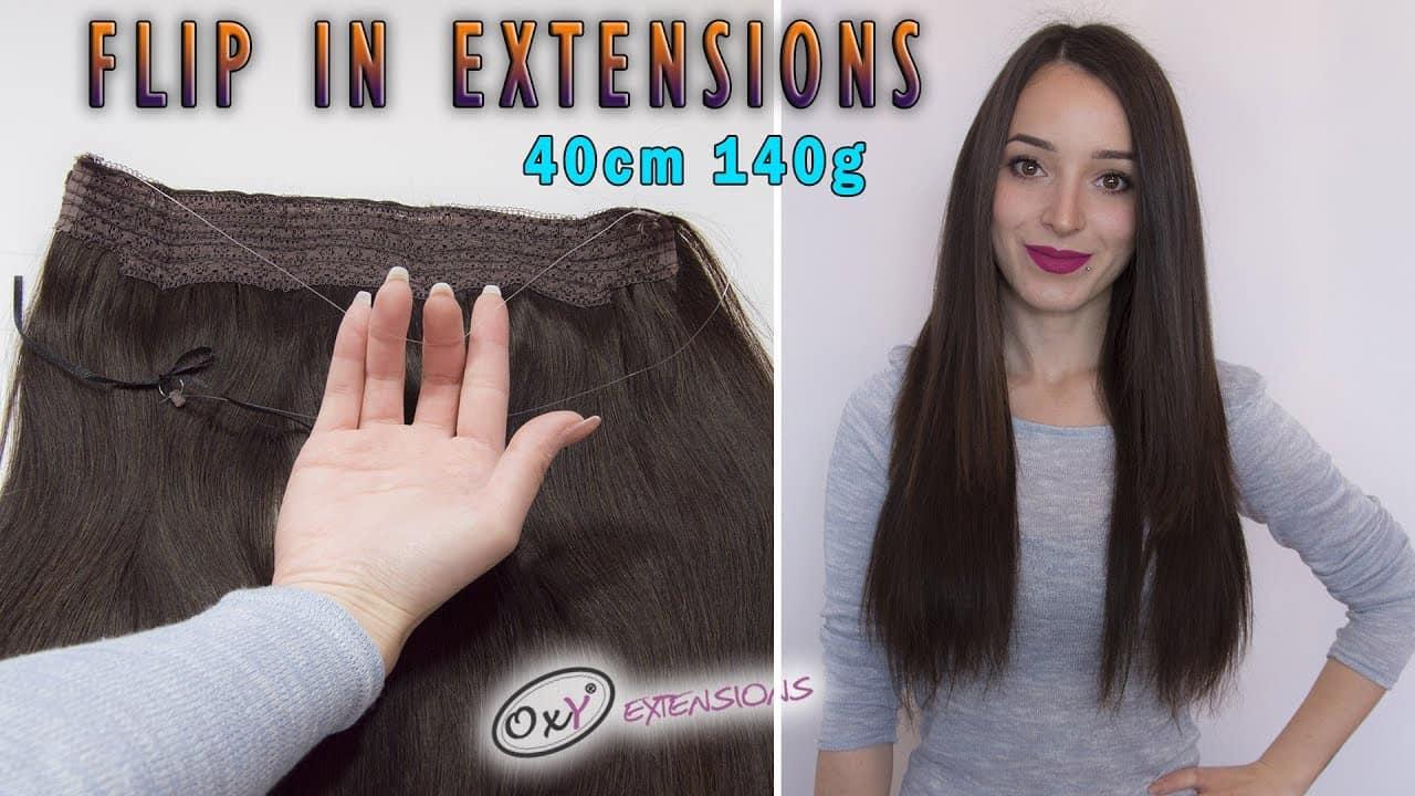 Premium Włosy Flip in 40cm 140g